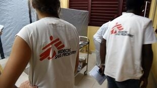 Members of Médecins sans frontières (MSF, Doctors without borders)
