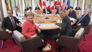 Reunião de líderes G7 na Alemanha.
