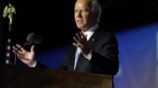 Joe Biden veut mettre fin à l'isolationnisme prôné par Donald Trump. Ici lors de son discours le 7 novembre à Wilmington.