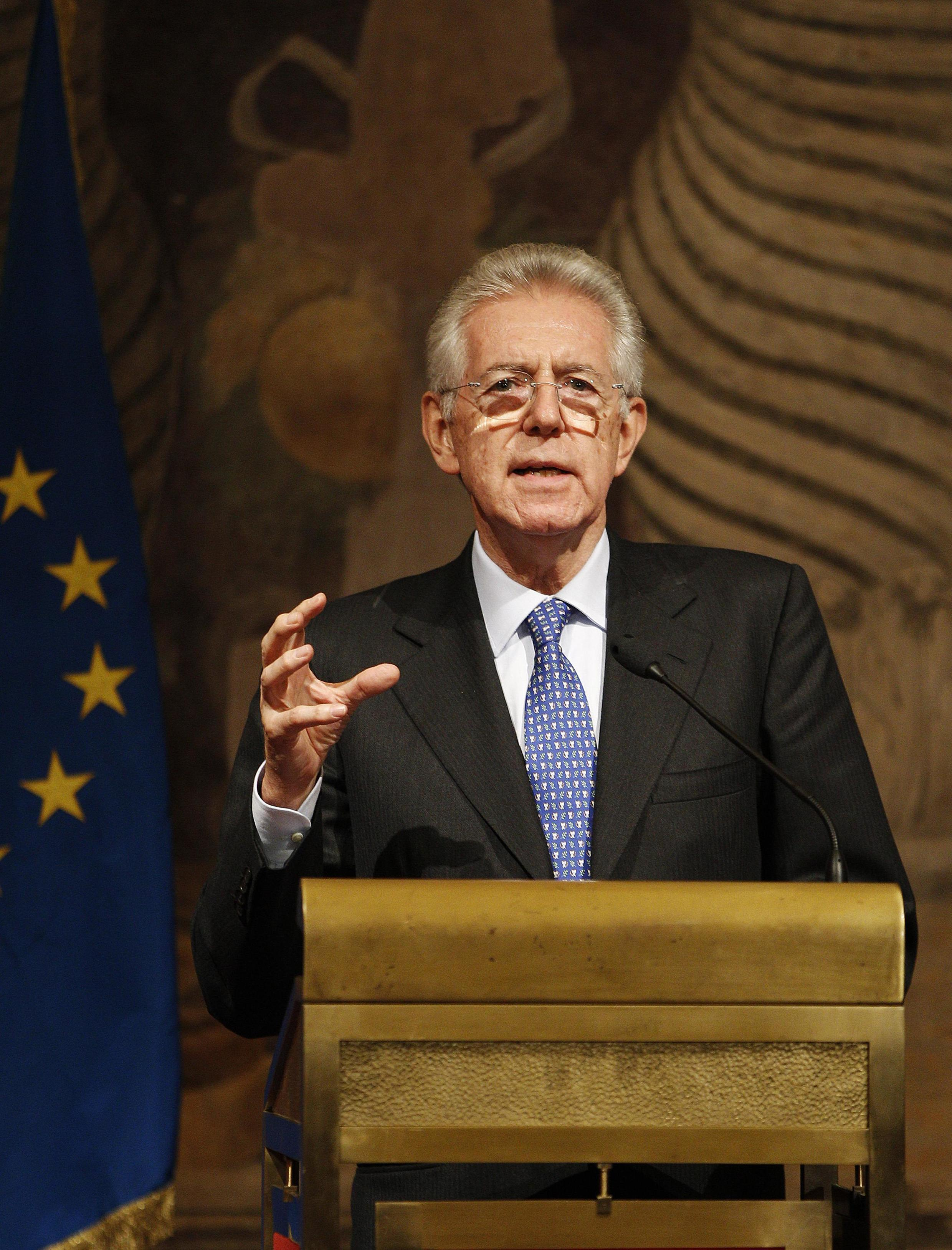 Prime Minister Mario Monti in talks to form a new government