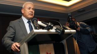 """លោក Burhan Ghalioun """" ប្រធាននៃក្រុមប្រឹក្សាជាតិស៊ីរី"""" CNS ដែលតំណាងក្រុមអ្នកប្រឆាំង"""