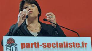 La première secrétaire du Parti socialiste, Martine Aubry.
