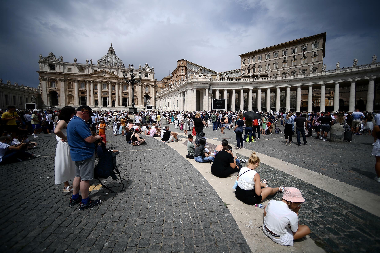 La Plaza de San Pedro, en el Vaticano, el 25 de julio de 2021