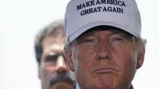 Donald Trump lors de sa conférence de presse à Loredo, au Texas, le 23 juillet 2015.