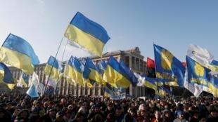 Акция на Майдане в Киеве, 8 декабря 2019.