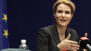 Le Premier ministre danois Helle Thorning-Schmidt prend, au nom de son pays, la présidence tournante de l'Union européenne, ce 1er janvier 2012.
