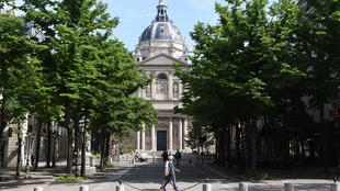 The Sorbonne university in Paris. Academics in universities around France are being called out for studying race and racism, which some say is threatening French universalism and colour-blindness.