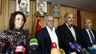 Les représentants des organisations médiatrices à Tunis, le 21 septembre 2013.