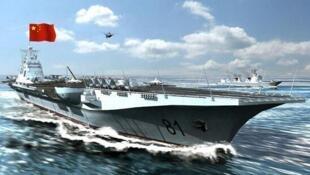 图为中国军事迷绘制未来中国航母想象图