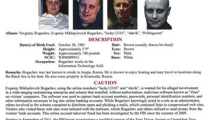 Lệnh truy nã Mikhailovitch Bogachev của FBI