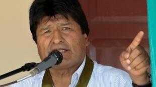 O ex-presidente boliviano Evo Morales em outubro de 2019.