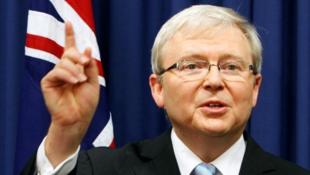澳大利亚前总理陆克文资料图片