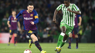 Lionel Messi - William Carvalho - Bétis - Sevilla - FC Barcelona - Espanha - Futebol - Desporto - Barcelone - Séville - Sevilha