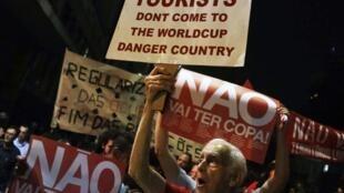 Manifestación en las calles de São Paulo, el pasado 15 de mayo del 2014.