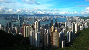 Vue de l'île de Hong Kong, région administrative spéciale de la République populaire de Chine.