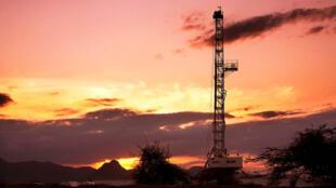Puit de pétrole dans le nord-ouest du comté de Turkana (photo non datée).