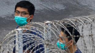 Nhà tranh đấu Hoàng Chi Phong (Joshua Wong). Ảnh chụp tại một trại giam ngày 03/12/2020, sau khi ông Hoàng Chi Phong bị kết án tù.