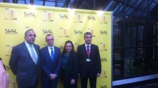 Los embajadores de Perú, Colombia, México y la representante de Chile, en la presentación de la Alianza del Pacífico durante el SIAL.