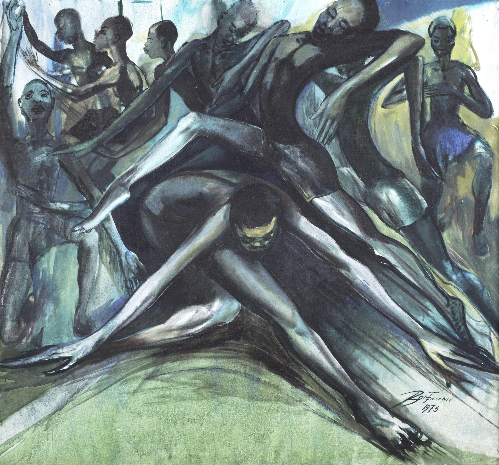 'Africa Dances' by Ben Enwonwu (Nigerian, 1917-1994)