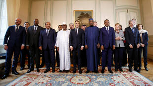 European and African leaders at the Sahel G5 conference at Le Celle-Saint-Cloud on Wednesday