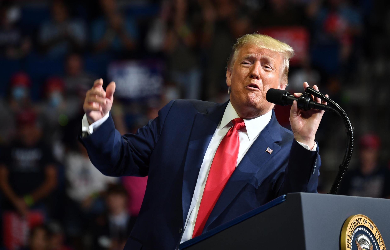 Le président américain Donald Trump lors de son meeting de campagne à Tulsa, Oklahoma, le 20 juin 2020.