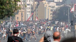 Beirut Manifestation aout 2020