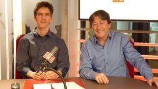 El historiador colombiano Santiago Giraldo con Jordi Batallé en RFI