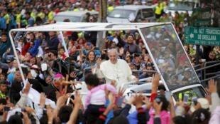 羅馬教宗2015年7月5日到訪厄瓜多爾的基多