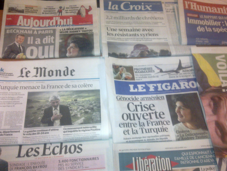 Diários franceses  21/12/2011