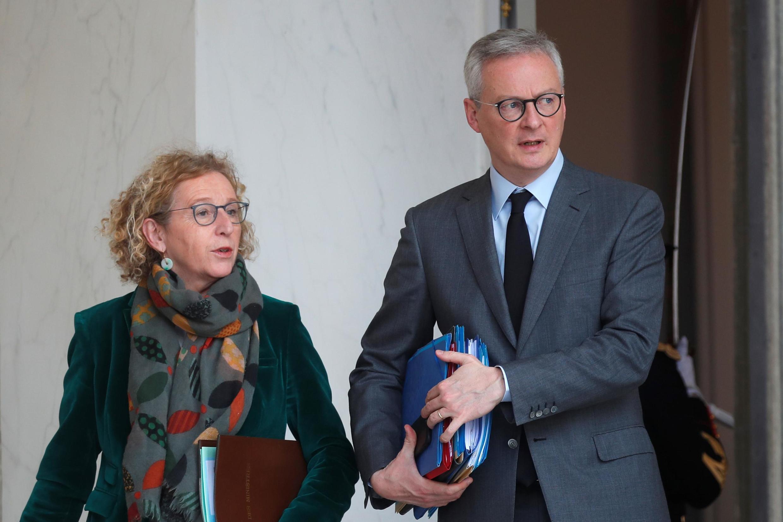 Министр экономики и министр труда Франции Брюно Ле Мэр и Мюриель Пенико.