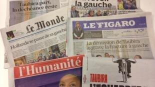Christiane Taubira està em todas as manchetes