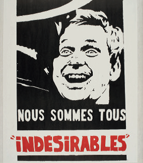 """Slogan on poster showing Daniel Cohn-Bendit was changed from """"we're all Jewish and German"""" to """"We're all undesirables"""""""