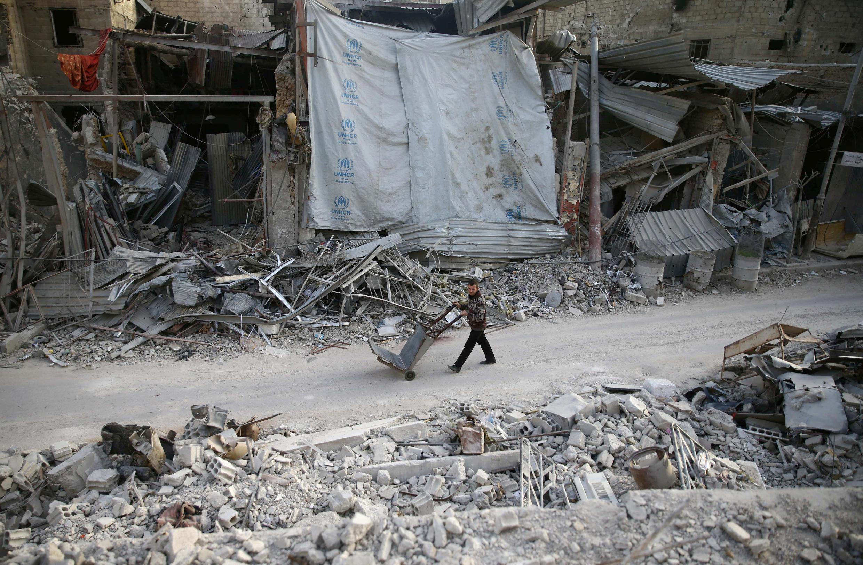 Ghouta Oriental, Síria, 5 de Março de 2018.