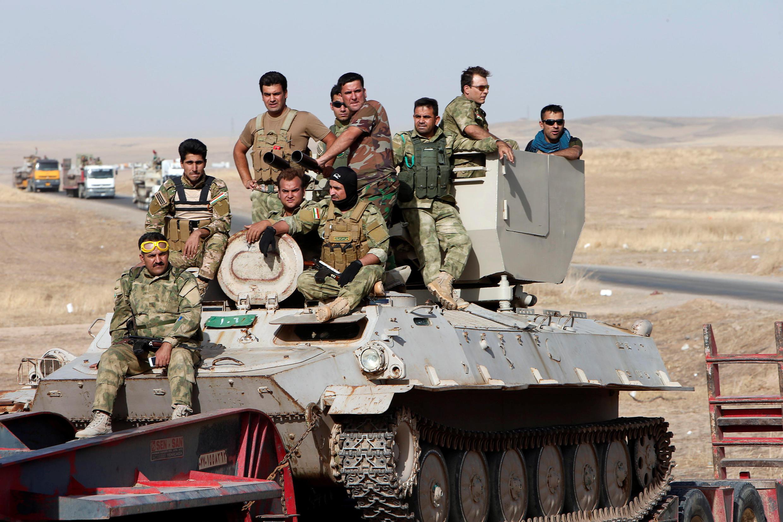 Курдские военнизированные формирования готовятся к наступлению на Мосул, 15 октября 2016 г.