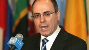 O vice primeiro-ministro de Israel, Sylvan Shalom.