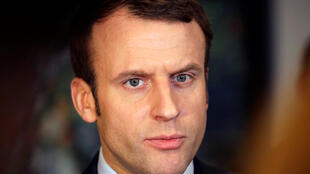 French presidential candidate Emmanuel Macron in Algiers on February 13, 2017.