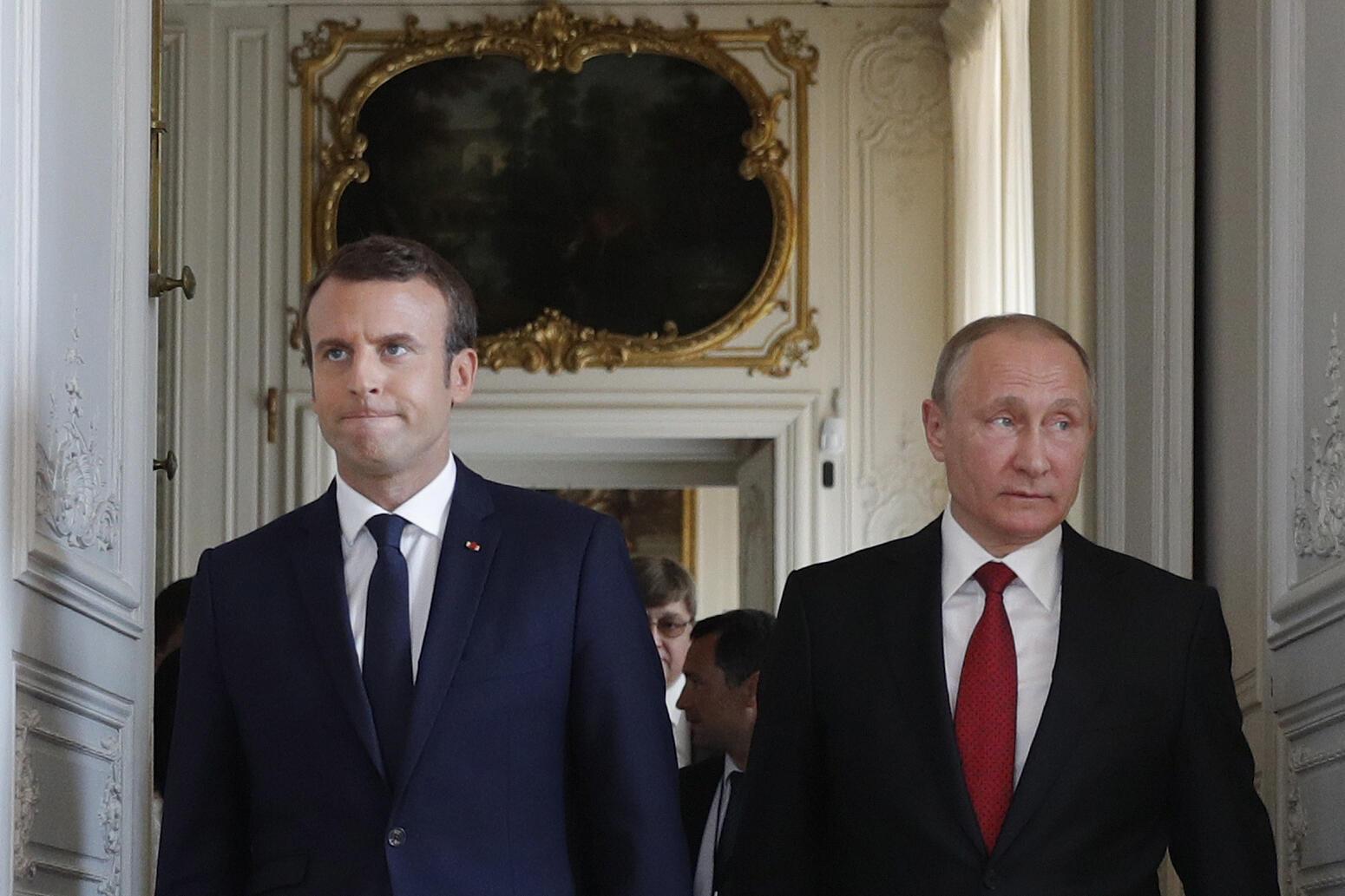 法國總統馬克龍與俄羅斯總統普京
