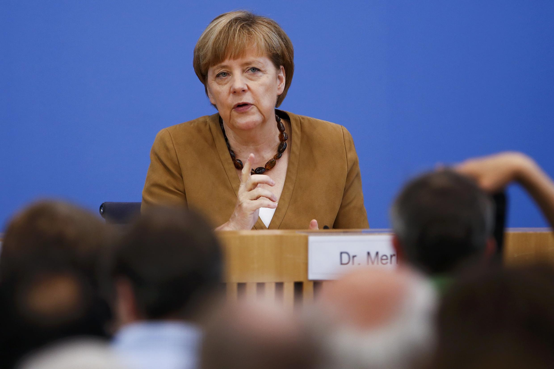 Канцлер Гемании Ангела Меркель, Берлин, 18 июля 2014 г.