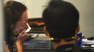 Vợ của doanh nhân Hàn Quốc bị cảnh sát Philippines bắt cóc và sát hại, tại cơ quan điều tra quốc gia ở Manila, ngày 18,01/2017.