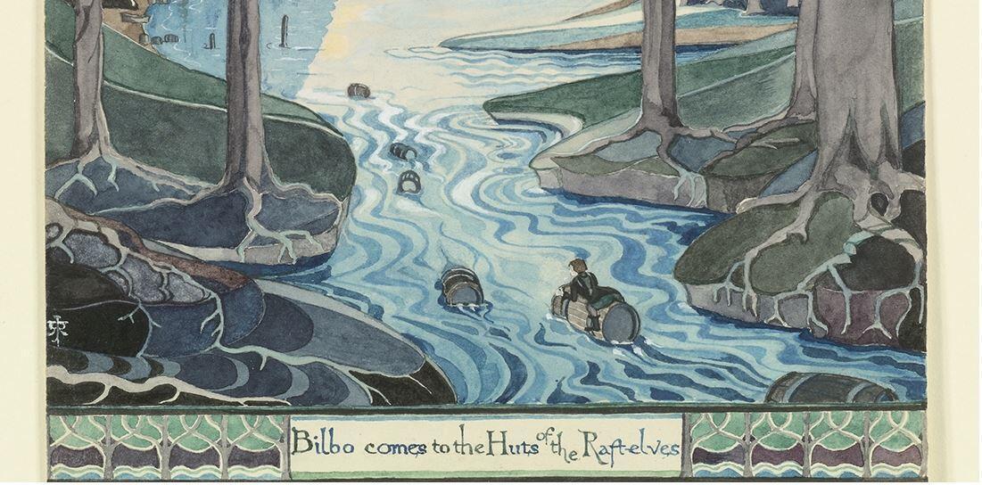 Толкиен, которого мы знаем в основном как автора книг, был еще и талантливым художником.