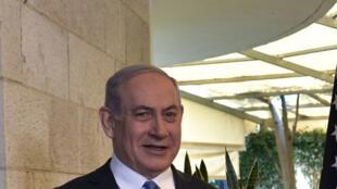 以色列总理内塔尼亚胡与美国国务卿蓬佩奥资料图片