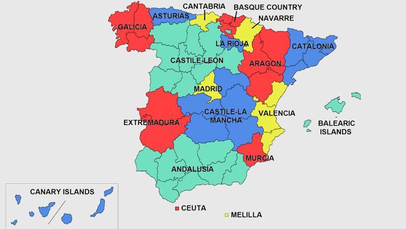 کمونتههای خودمختار اسپانیا