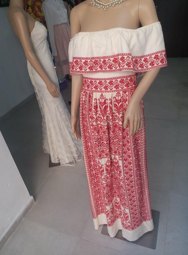 Handmade embroidered dress
