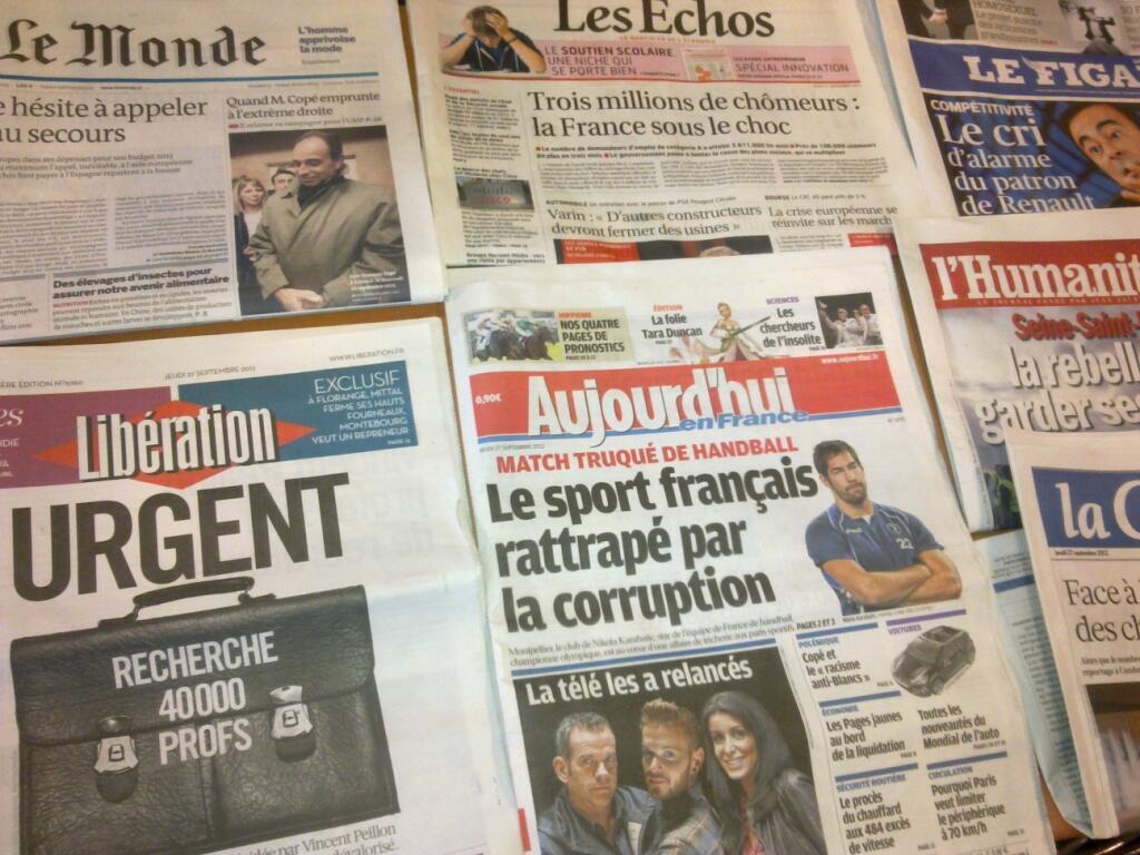 Diários franceses   27/09/2012