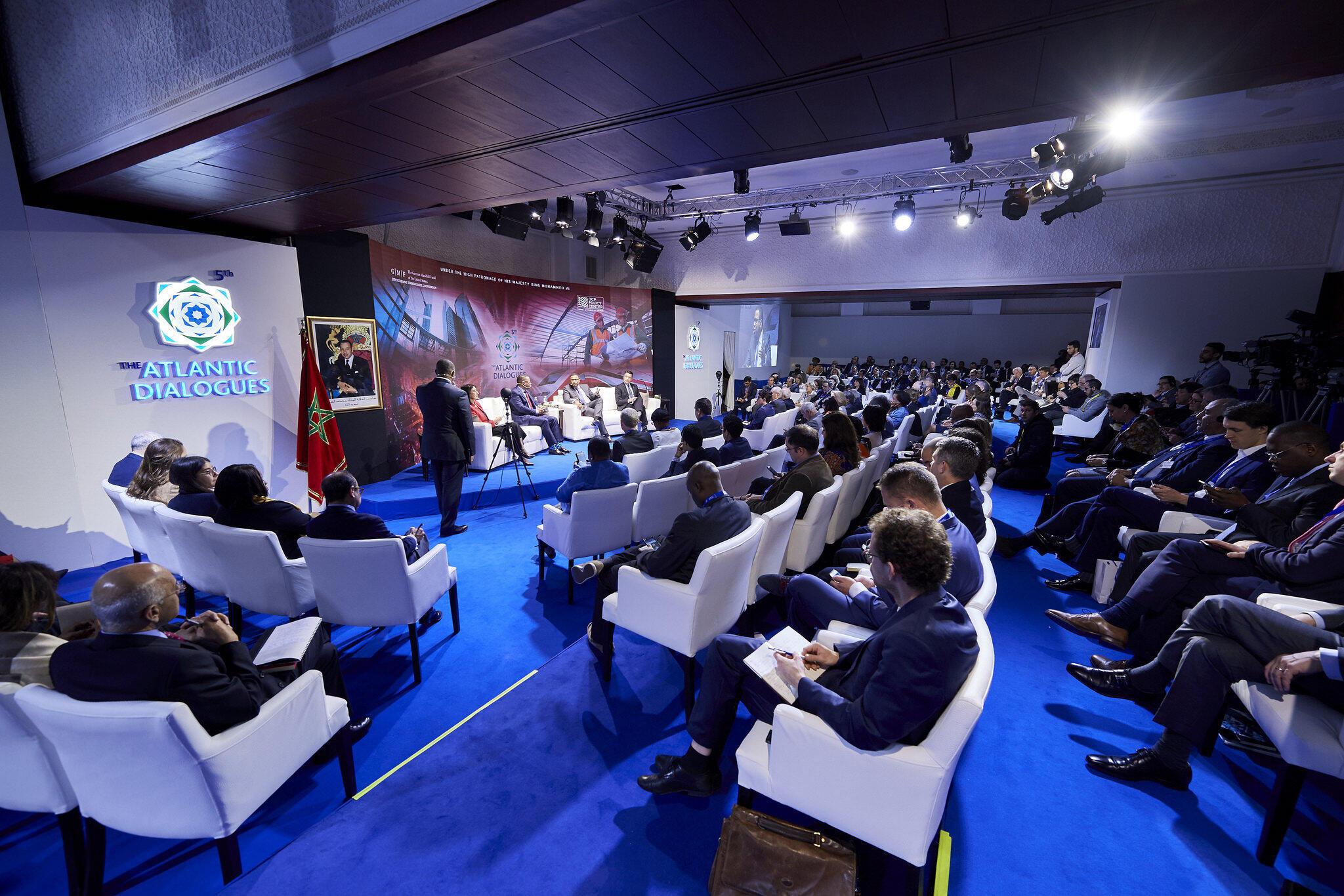 Une séance de l'édition 2016 de la conférence «Atlantic Dialogues» à Marrakech.