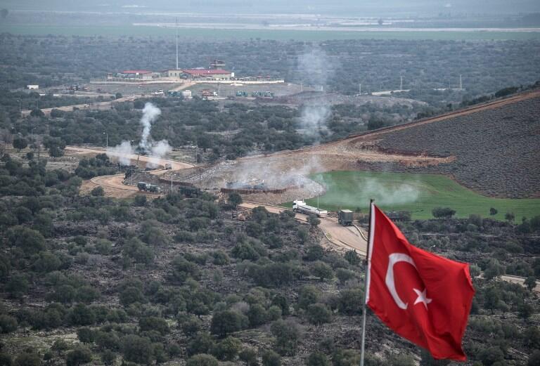 Turkish artillery shells YPG positions near the Syrian border on Sunday,  21 January