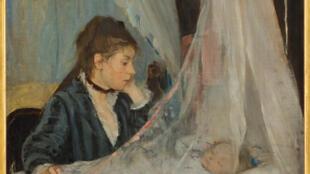 Le Berceau, 1872 Huile sur toile, 56 x 46.5 cm Paris, musée d'Orsay, acquis en 1930, RF 2849 Photo.