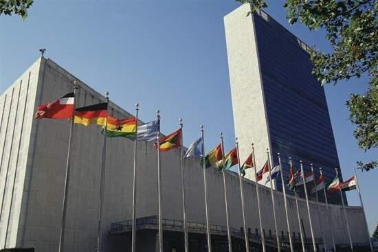 圖為聯合國紐約總部大樓