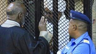 O antigo presidente acompanhou a leitura da sentença numa espécie de jaula de metal. 14 de Dezembro de 2019.