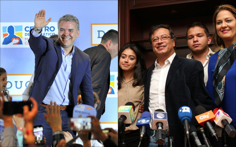 L'élection présidentielle colombienne opposera Ivan Duque et Gustavo Petro pour prendre la place de Juan Manuel Santos.